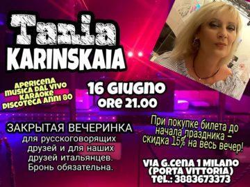 Serata russa a Milano 16 giugno